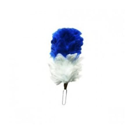 Blue - White Feather Bonnet Hackle / Hats Plums