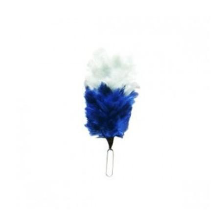 White - Blue Feather Hackle / Uniform Hats Plums