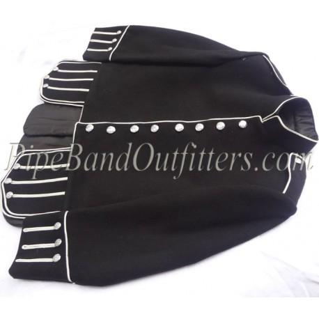 Pipe Band Black Uniform Doublet Kilt Jacket