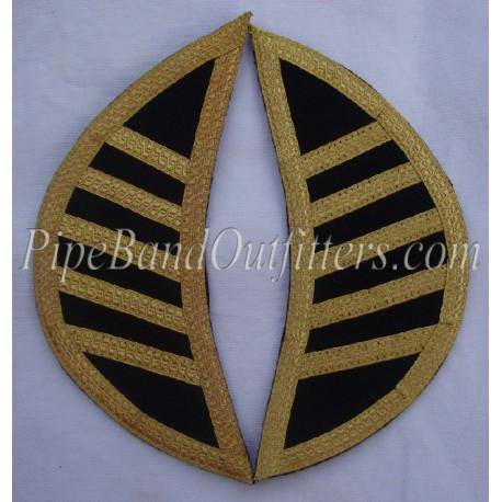 Black Doublet Shoulder Shells - Wings - Epaulettes