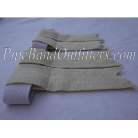 Cream / Half White Kilt Flashers/Flashes - Garters