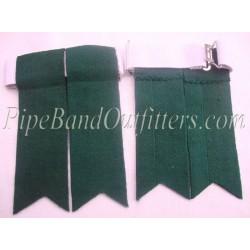 Drummer Green Kilt Flashers/Flashes - Garters