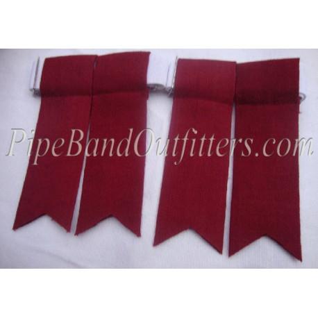 Piper Maroon Kilt Flashers/Flashes - Garters