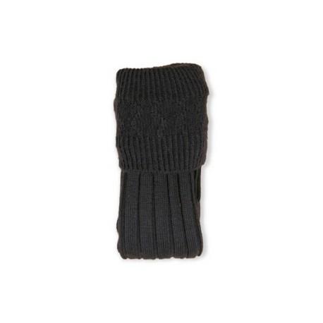 Pipe Band Black Full Socks