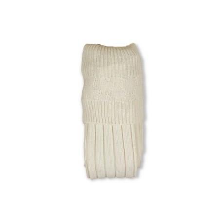 Ecru White Band Full Socks