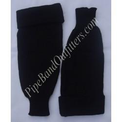 Black Plain Pipe band Hose Tops - Half Hoses