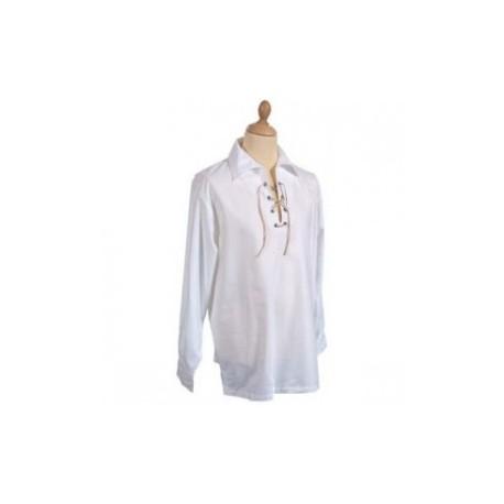 White Cotton Rich Jacobite Shirt
