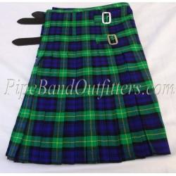 Piper Drummer Green Wool Tartan Kilt