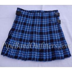 Piper Drummer Blue Wool Tartan Kilt