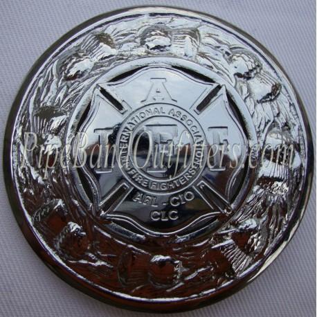IAFF Custom Made Plaid Brooch
