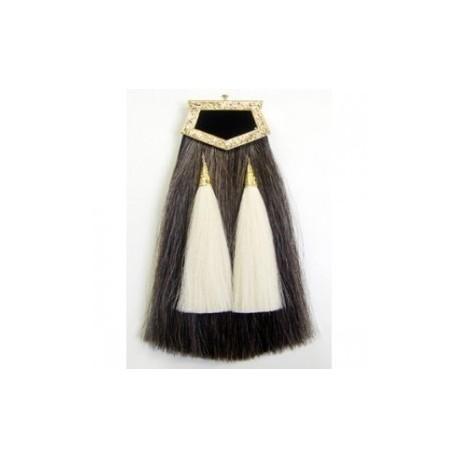 Pipe Band Horse Hair Sporran - Heavy Gilt Cantle