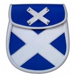 Leather Scottish Cross Sporran