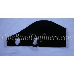 Black Velvet Bagpipe Cover - White Fringe