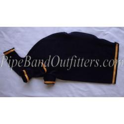 Blue Velvet Bagpipe Cover - Yellow Braided