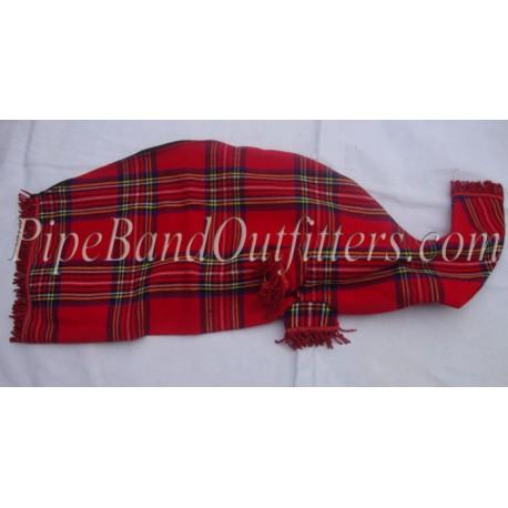 Royal Stewart Tartan Bagpipe Cover - Red Fringe