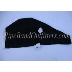Black Watch Tartan Bagpipe Cover - White Fringe
