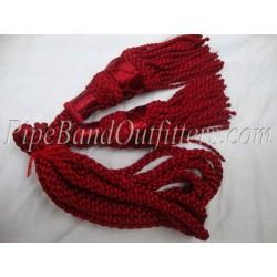 Maroon Bagpipe Silk Cord