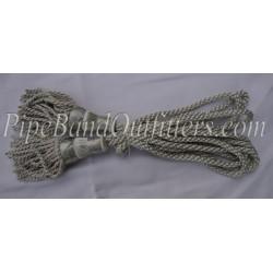 Silver Bagpipe Silk Cord