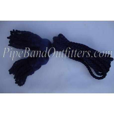 Navy Blue Bagpipe Silk Cord