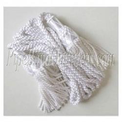 White Bagpipe Silk Cord