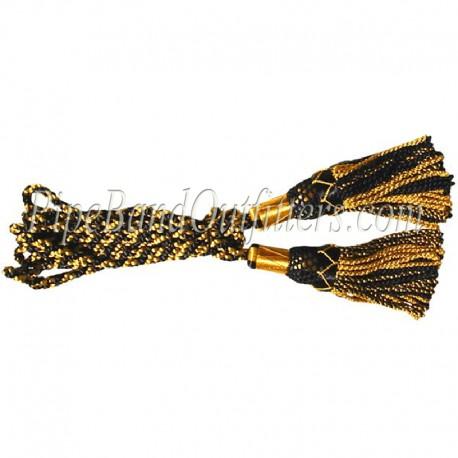 Yellow & Black Bagpipe Silk Cord