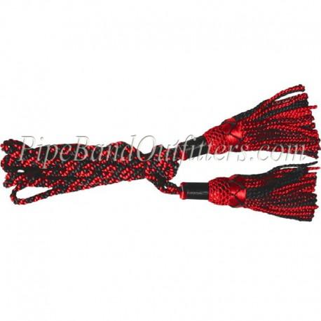 Red & Black Bagpipe Silk Cord