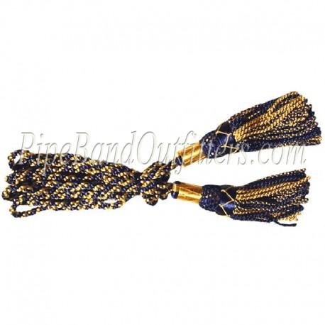 Yellow & Blue Bagpipe Silk Cord