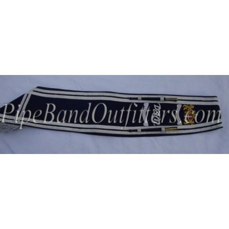 Band Drum Major Dark Blue Baldric Sash
