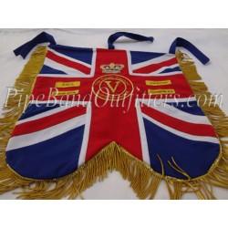 Pipe Band Red Blue Custom Regiment Banner