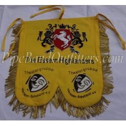 Yellow Bagpipe Band Custom Made Banner