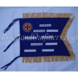 Pipe Major Custom Made Yellow Blue Banner
