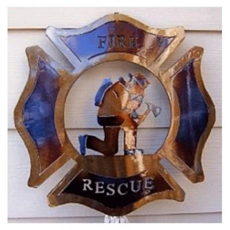 Firefighter Wall Decor Badge