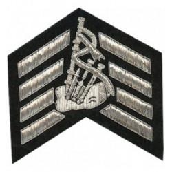 Major Stripes Badge - Bagpipe