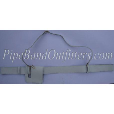 Black Leather Piper Sword Belt