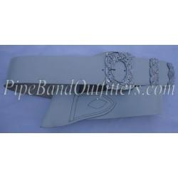 White Leather Piper Cross Belt